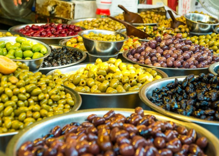 An Assortment of World Famous Greek Olives - credits: Okrasyuk/Shutterstock.com