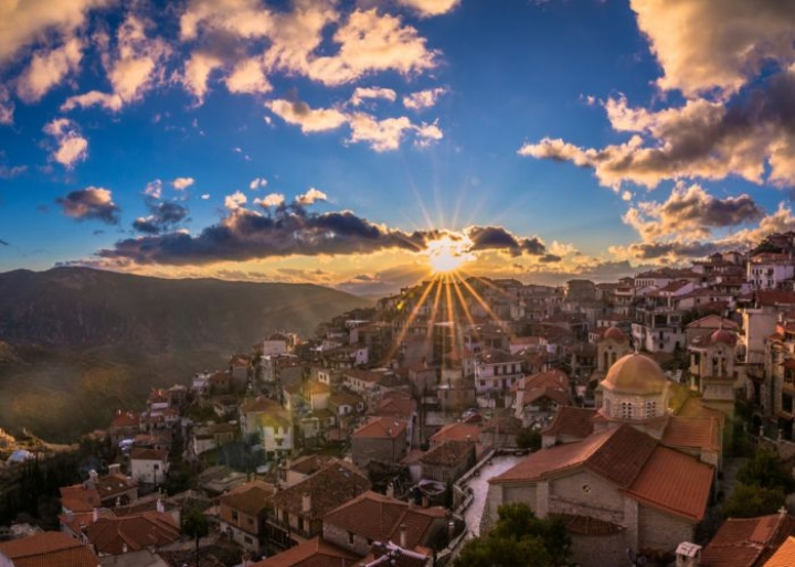 The ffestival of St. George in Arachova -