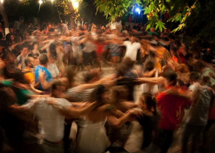 Traditional Greek circular dance in a panigiri - credits: NDT/Shutterstock.com