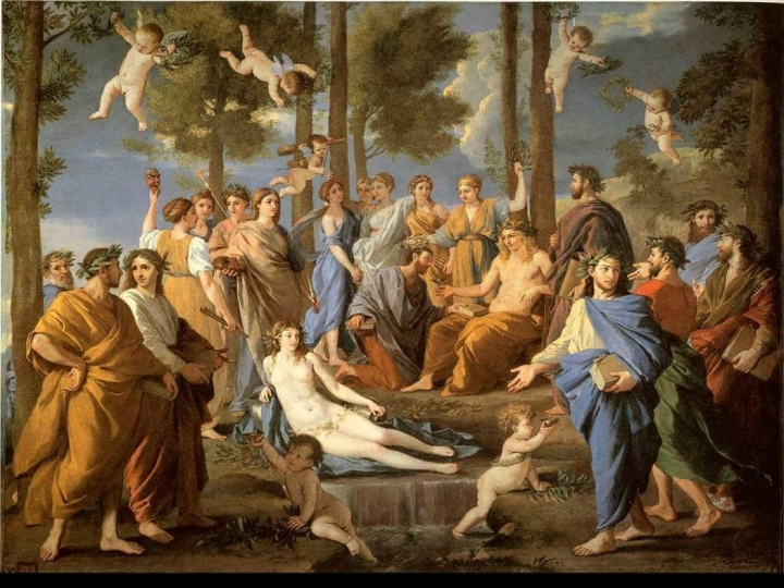 Nicolas Poussin: Apollo and the Muses / Prado National Museum - credits: wikipedia.org