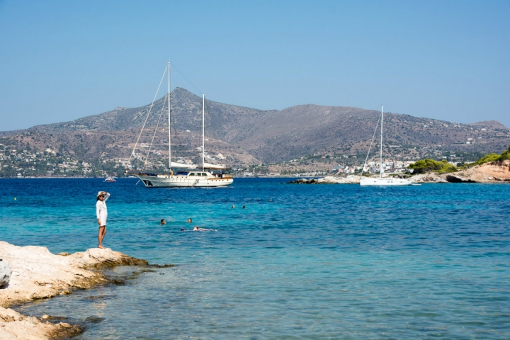 View of Aegina from Moni islet - credits: exploringgreece.com