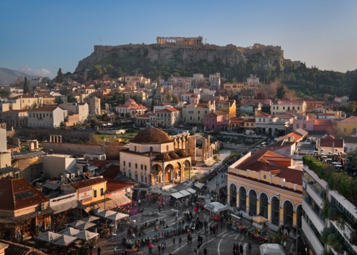 Aerial view of Monastiraki Square and the Acropolis - credits: Anastasios71/Shutterstock.com